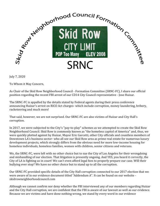 SRNC-FC Huizar Corruption Letter- 2B-1